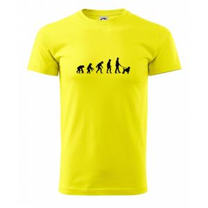 Evoluce pes pudl (muž-žena) - Heavy new - triko pánské