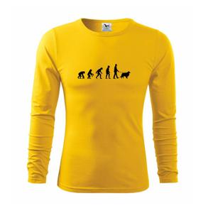 Evoluce pes Sheltie (muž-žena) - Triko s dlouhým rukávem FIT-T long sleeve