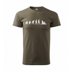 Evoluce veslování 1 človek - Triko Basic Extra velké