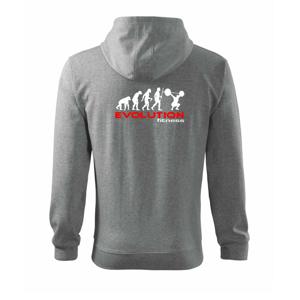 Evolution fitness - Mikina s kapucí na zip trendy zipper