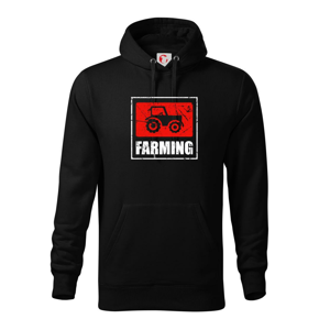 Farming traktor logo - Mikina s kapucí hooded sweater