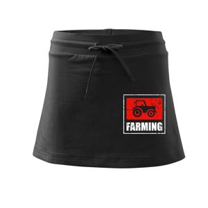 Farming traktor logo - Sportovní sukně - two in one