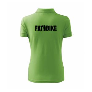 Fat bike nápis - Polokošile dámská Pique Polo