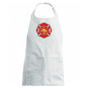 Fire department logo červené - Dětská zástěra na vaření