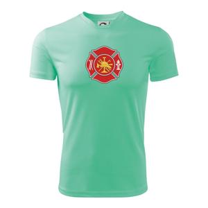 Fire department logo červené - Dětské triko Fantasy sportovní (dresovina)