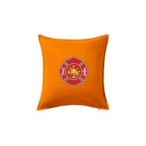 Fire department logo červené - Polštář 50x50