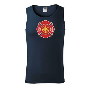 Fire department logo červené - Tílko pánské Core