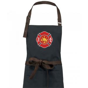 Fire department logo červené - Zástěra Vintage