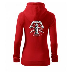 Firefighter logo Fire and rescue - Dámská mikina trendy zippeer s kapucí