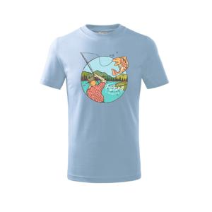 Fishing ovál - Triko dětské basic