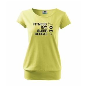 Fitness Eat Sleep Repeat - Volné triko city
