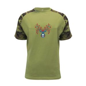 Folklor - jelen s červenými plody - Raglan Military
