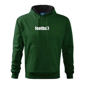 Fotbal nápis - Mikina s kapucí hooded sweater