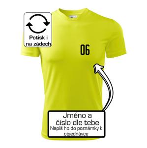 Fotbalový dres - vlastní jméno a číslo - Pánské triko Fantasy sportovní (dresovina)
