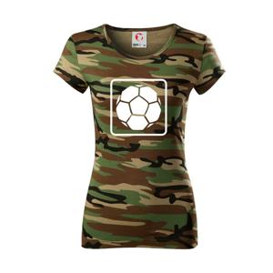 Fotbalový míč emblem - Dámské maskáčové triko