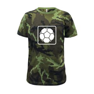 Fotbalový míč emblem - Dětské maskáčové triko
