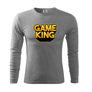 Game king - nápis velký - Triko s dlouhým rukávem FIT-T long sleeve