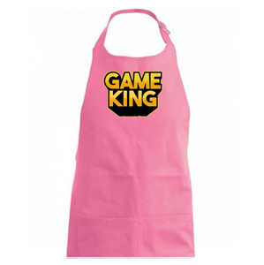 Game king - nápis velký - Zástěra na vaření