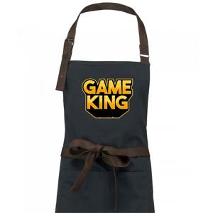 Game king - nápis velký - Zástěra Vintage