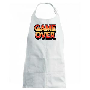 Game over - nápis barevný - Dětská zástěra na vaření