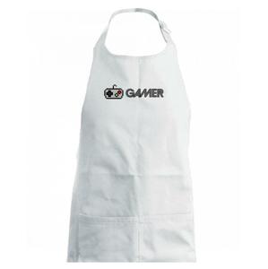 Gamer - ikona gamepad - Dětská zástěra na vaření