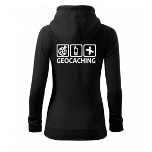 Geocaching ikony - Dámská mikina trendy zippeer s kapucí