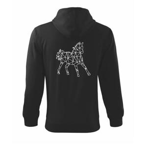 Geometrie - kůň - Mikina s kapucí na zip trendy zipper