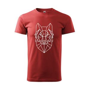 Geometrie - vlk - Heavy new - triko pánské