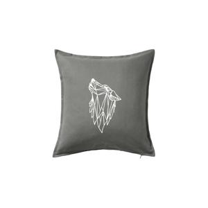 Geometrie - vlk - vyjící - Polštář 50x50