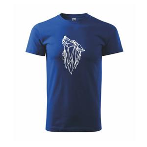 Geometrie - vlk - vyjící - Triko Basic Extra velké