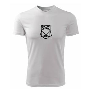 Geometrire - sova jednoduchá - Pánské triko Fantasy sportovní (dresovina)