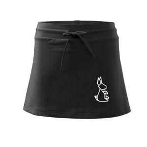 Geometrire - zajíc - Sportovní sukně - two in one