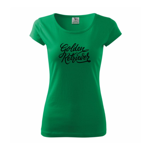 Golden retriever - nápis okrasný - Pure dámské triko