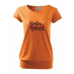 Golden retriever - nápis okrasný - Volné triko city