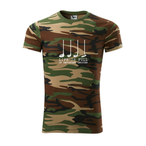 Golf - life is full of important choices - Army CAMOUFLAGE
