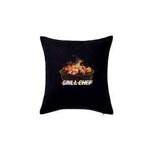 Grill chef - gril s ohněm - Polštář 50x50