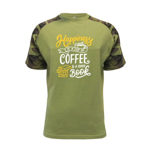 Happiness is a Cup of Coffee and a Good Book - Raglan Military