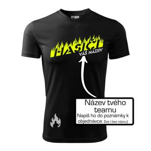 Hasiči - oheň - Váš název - Dětské triko Fantasy sportovní (dresovina)