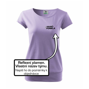 Hasiči reflexní stříkačka - vlastní název - Volné triko city