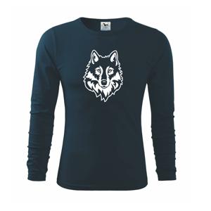 Hlava vlka černobílá (Hana-creative) - Triko s dlouhým rukávem FIT-T long sleeve