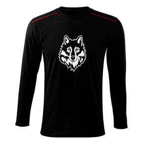 Hlava vlka černobílá (Hana-creative) - Triko s dlouhým rukávem Long Sleeve