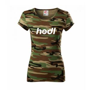 Hodl - Dámské maskáčové triko