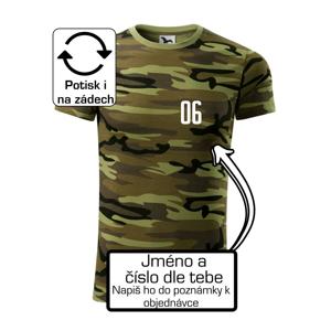 Hokejový dres - vlastní jméno a číslo - Army CAMOUFLAGE