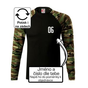 Hokejový dres - vlastní jméno a číslo - Camouflage LS