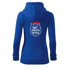 Hokejový táta / hokejová máma - puk - Dámská mikina trendy zipper s kapucí