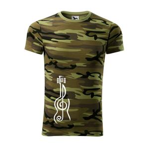 Houslový klíč kytara - Army CAMOUFLAGE