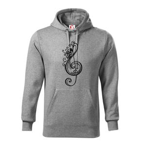 Houslový klíč kytky - Mikina s kapucí hooded sweater