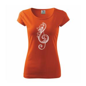 Houslový klíč kytky - Pure dámské triko