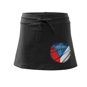 Hrdinové zdravotnictví - Česká vlajka (Pecka design) - Sportovní sukně - two in one