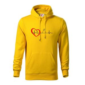Hruška EKG - Mikina s kapucí hooded sweater